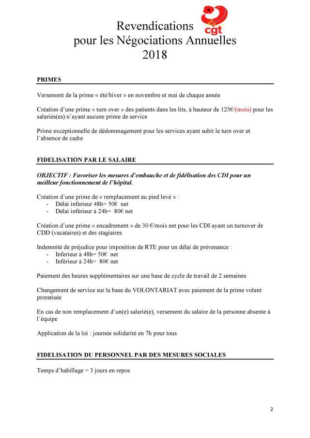 Revendications Des Salaries Es Nao 2018 Cgt Hopital Prive Jacques